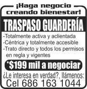 Traspaso Guardería