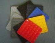 piso de plástico para tráfico pesado de colores